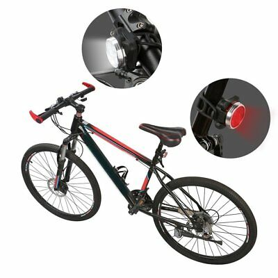 Waterproof Bicycle Bike Lights Front Rear Tail Light Lamp USB Rechargeable MT