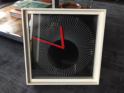 Stylish Vintage 1980s Large Wall Clock