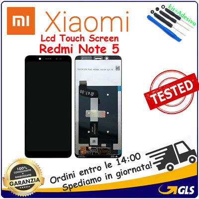 TOUCH SCREEN + LCD DISPLAY MONITOR Per XIAOMI REDMI NOTE 5 M1803E7SG NERO