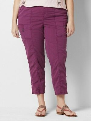 1848efcdd SONOMA Goods for Life Womens Mid Rise Convertible Utility Pants Plus Sz 22W  NWT