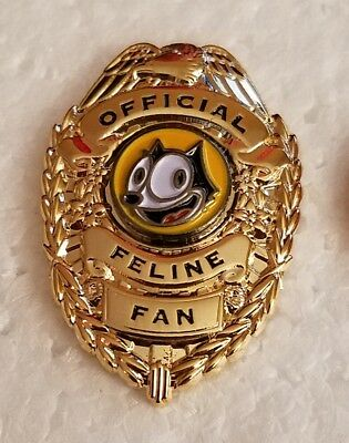 Felix The Cat Official Feline Fan Badge Lapel Pin