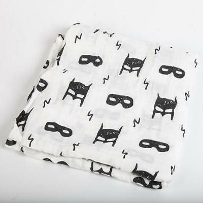 Soft Large Cotton Muslin Swaddle Squares Blanket for Baby 8C