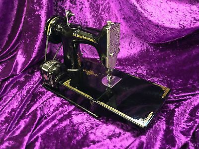 Vintage Singer Sewing Machine Model 221K in Case