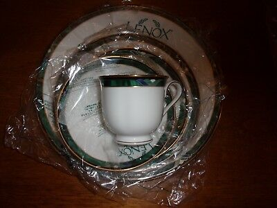 LENOX 5 pc kelly NEW set place setting dinner  cup saucer salad bread plate