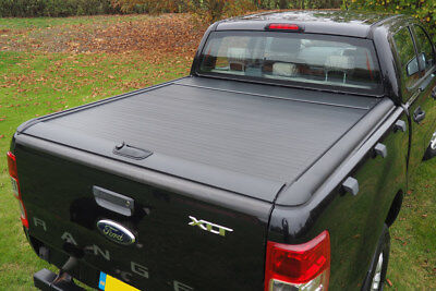 Ford Ranger T6 ProRoll Roll Top Cover - Roll and Lock Tonneau Cover - BLACK