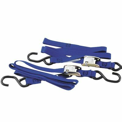 "BikeMaster Tiedowns With Integrated Softhooks 1.5"" x 74"" Blue (100518)"