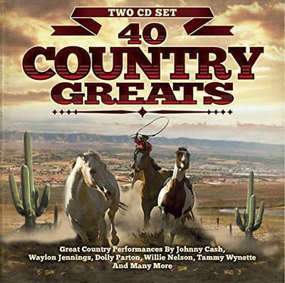 40 Country Greats, Various Artists, Audio CD, New, FREE