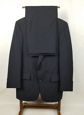 Austin Reed Men's Size 42R Navy Stripes Vented 100% Wool Suit W34X29