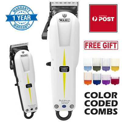 NEW Wahl Professional Cordless Super Taper Hair Clipper Trimmer White WA8591-01