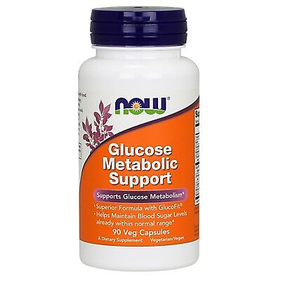 NOW Foods Glucose Metabolic Support, 90 Veg Capsules