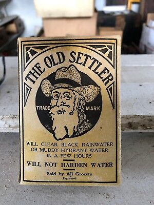 Vintage The Old Settler Water Clarifier Purifying Powder NOS 13 Cents Original!