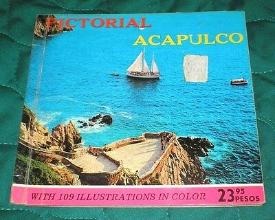 ACAPULCO Early 1970s PICTORIAL Booklet 109 Color PHOTOS and ILLUSTRATIONS