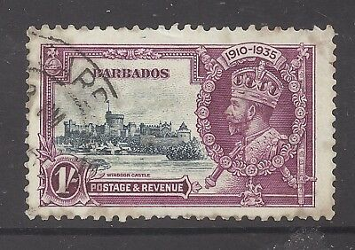 Barbados 1935 1s Silver Jubilee SG 244 cat £24 Fine used b1966