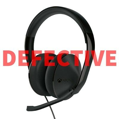 DEFECTIVE Official Xbox One Stereo Headset - Black/Green