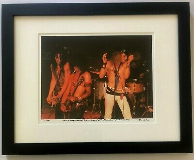 Guns N Roses Rocket Queen debut Slash Axl Rose fine art photo 1985 signed 14/100