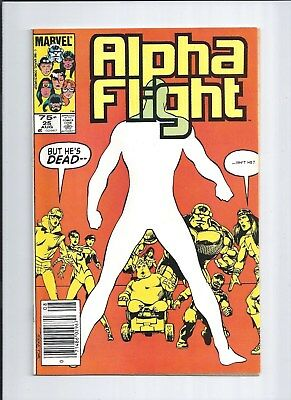 Alpha Flight #25 NM- (9.2) 1985 RARE Canadian Price Variant!
