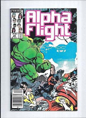 Alpha Flight #29 NM (9.4) 1985 RARE Canadian Price Variant! HULK Cover/Story!