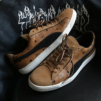 PUMA X MCM Suede Classic Brown Sneakers 50th Anniversary Mens Size ... 5eceeb7ee