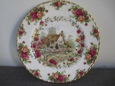 "ROYAL ALBERT ~ OLD COUNTRY ROSES COTTAGE  10.25"" Cabinet Plate  1988  VGC"