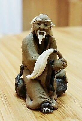 Antique Chinese Old Man Statue Figurine
