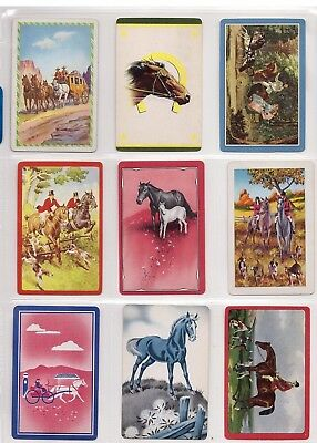 Lot Of 9 Rare Vintage Authentic Horse & Pony Genuine Swap Cards Blank Back Mint