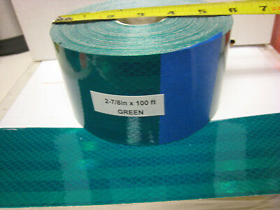"HUNTER GREEN  Reflective  Conspicuity  Tape 2-7/8"" x 100 feet"