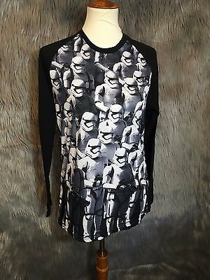 Disney Stormtrooper Star Wars First Order Long sleeve Tee Shirt size Small