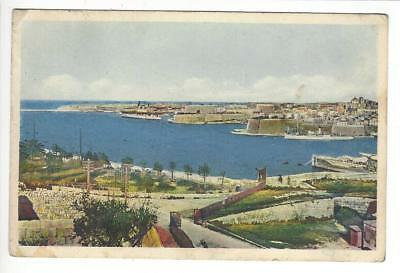 MALTA - General View Grand Harbour - La Valetta 21. 7. 1938
