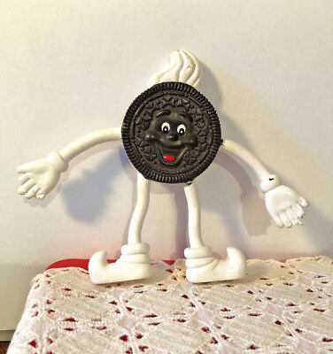 "Vintage Nabisco ""oreo Cookie"" Bendable Toy Figure"