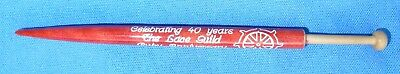 Honiton Bobbin  Celebrating 40 Years Lace Guild Ruby Anniversary 2016/2017   New