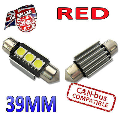 Audi R8 07-on SUPER STRONG Canbus Bright White LED Number Plate Pair C5W Bulbs