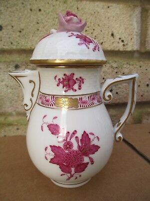 Herend Chinese Bouquet Raspberry - Rare & Bijou Small Hot Water Pot