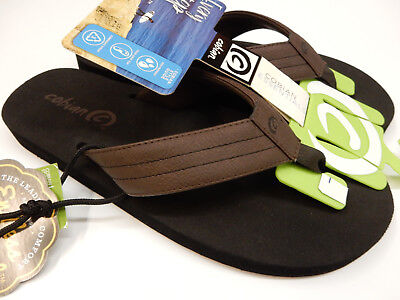 914f4cc8a7fb24 VINEYARD VINES MEN S Brown Leather Flip Flop Sandals Size 11 -  5.00 ...