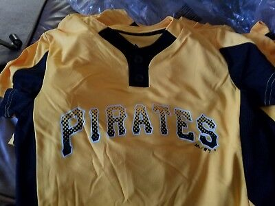 df8dadc1547 New Majestic Cool Base Pirates Sm Youth Baseball Little League 2-Button  Jersey