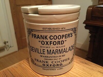 """Outstandingly good FRANK COOPER'S """"OXFORD"""" SEVILLE MARMALADE POT and lid"""