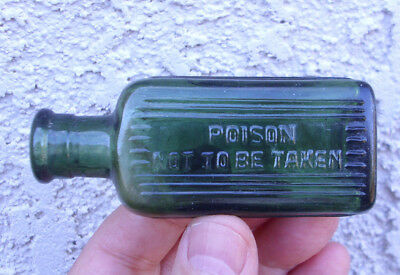 Very cute vintage/antique..exotic...out of Africa..sage green 1 oz poison bottle