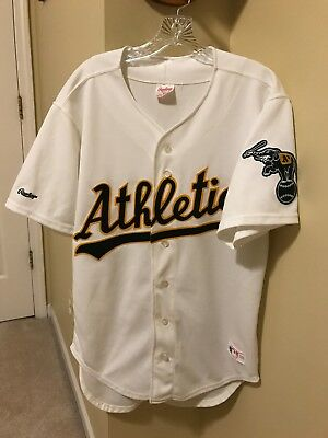 cd86c40f6 Vintage Rawlings Oakland Athletics A s Baseball Jersey Sz 44 Made In Usa
