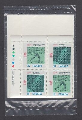 CANADA SEALED PLATE BLOCKS 1152-1153 36c x 16 1988 OLYMPIC WINTER GAMES
