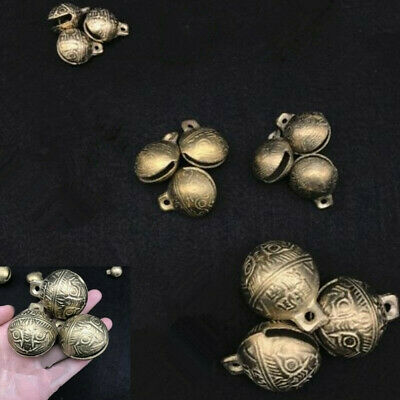 5 PCS Tibetan Brass Bells Beads Craft Tiger's head Small Metal Ethnic