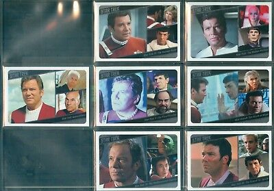 STOS Captain's Collection 7 Card Star Trek Movies Insert Set