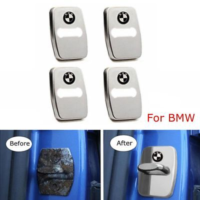 4pcs Stainless Steel Car Door Lock Buckle Protective Cover For BMW X6 2008-2013