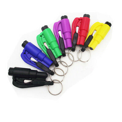 Emergency Safety Escape Car Window Glass Breaker Hammer Keyring Seat Belt Cutter