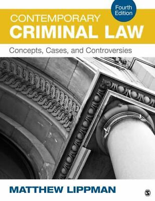 Contemporary Criminal Law : Concepts, Cases, and Controversies by Matthew Lippm…