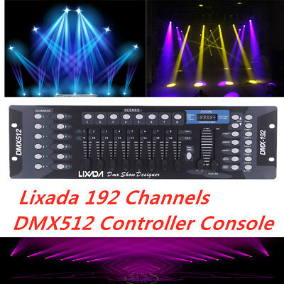 Lixada 192 Channels DMX512 Controller Console for Stage Light KTV Operator M0Z9