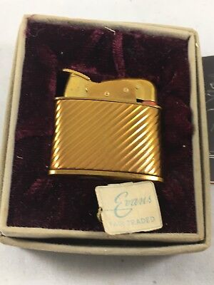 Vintage Evans Pocket Lighter with original Box and Papers Working