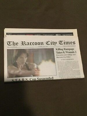 The Raccoon City Times Resident Evil Newspaper from 2004 San Diego Comic Con