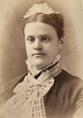 Antique Victorian CDV Photograph Wilkes Barre PA. Big Husky Woman Lady!