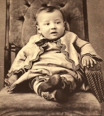 Antique Victorian CDV Photograph Fredericktown OH. Ethnic Dressed Baby Boy!:)