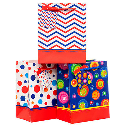 New 375334  Gift Bag Xs Asst Clr & Degn (12-Pack)-Gift Wrapping
