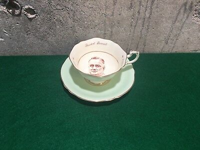 Paragon Tea Cup President Roosevelt FDR Patriotic Series Mint Green